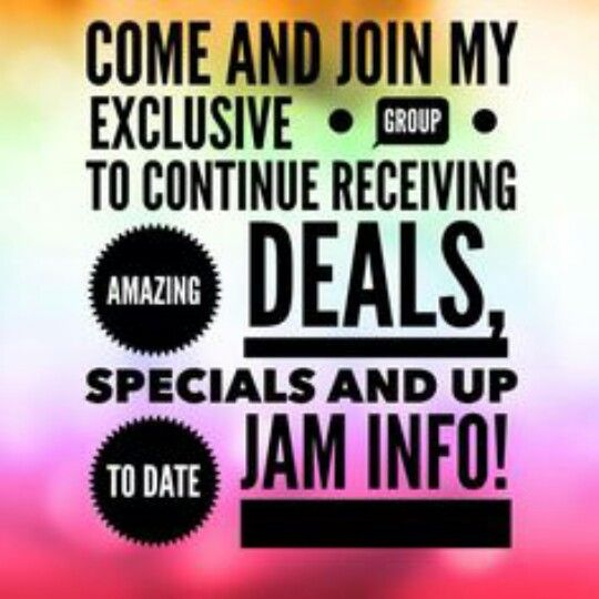 Join my JamBerry VIP group for exclusive specials, and giveaways!  https://www.facebook.com/groups/975534345827420/