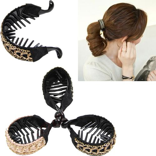 3pcs/lot New Trendy Hair Accessories Simple Lady Hairpin Link Gripping Banana Clips