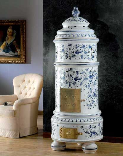 stufa in ceramica domizia pugi