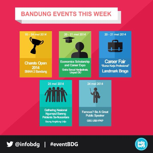 Don't miss any event this week. Log on to infobdg.com or follow infobdg on twitter for more info