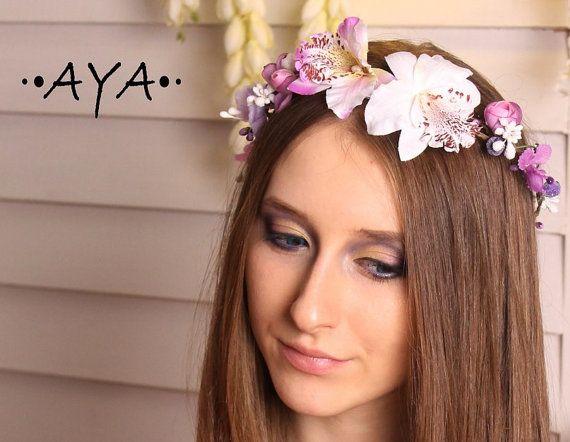 Boho flower crown rim hair accessories girl bridesmaid wedding