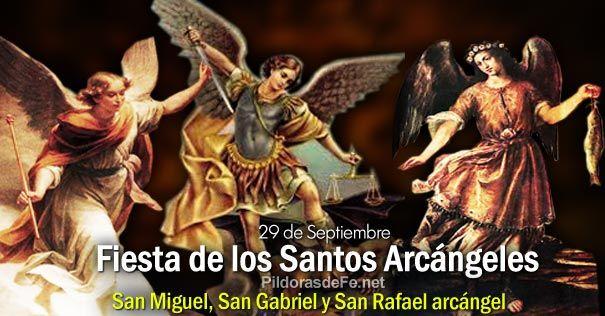 Resultado de imagen para santos arcangeles miguel gabriel y rafael