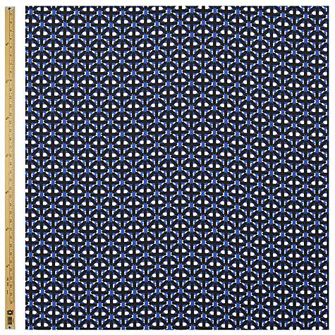 Buy John Lewis Graphic Print Fabric, Blue Online at johnlewis.com