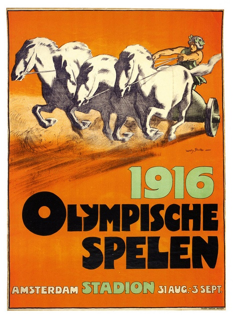 The Phantom Olympics 1916 poster by Willy Sluiter