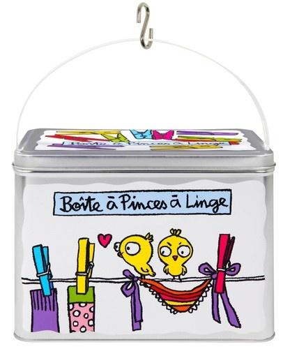 keladeco.com - #boite à pinces à linge, boite à pince à linge valérie nylin, boite derrière la porte - DLP