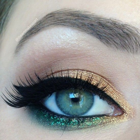 Try this in Merle Norman! Eyeshadow in Vanilla Mousse (highlight), Truffle (crease), Vintage Charm (Lid and tear duct), and Sea Green(liner accent). Use ProPen liner in Sharp Black for the purr-fect cat eye!