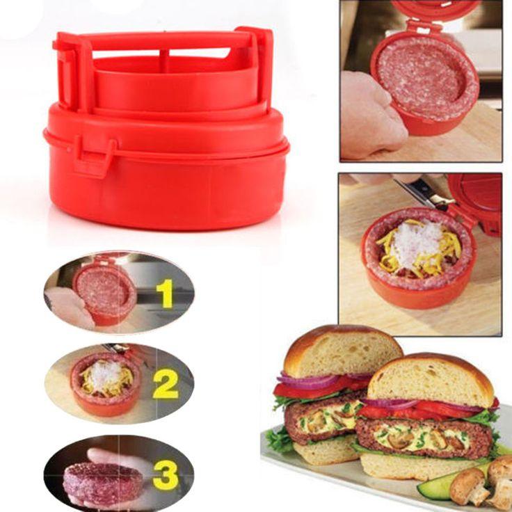 New Plastic Patties Mold Maker BBQ Meat Machine Stufz Burger Press Cooking Tool