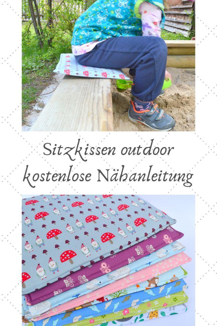 Sitzkissen Sitzunterlage Nahanleitung Tutorial Kostenlose Nahanleitung Nora Sitzkissen Anfanger Strickprojekte Sitzkissen Kinder