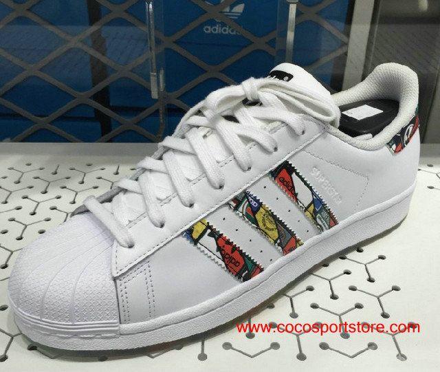 214c118db7e Adidas Superstar Eason Chan S79390 Transparent Bottom White Graffiti ...