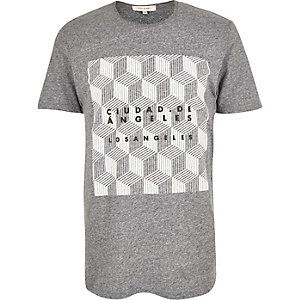 Grey geometric print pattern