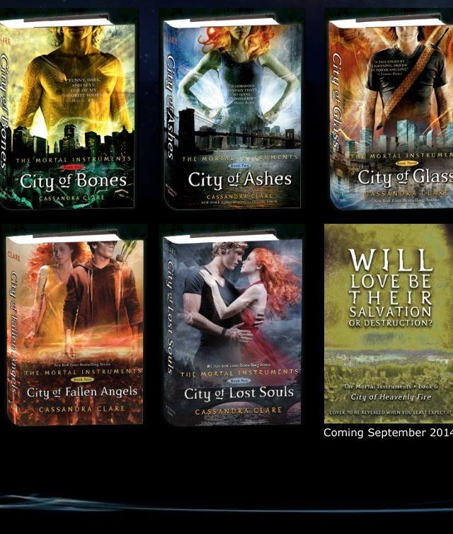 Mortal Instruments Series Book Lot 1-5 Cassandra Clare City Bones Ashes Glass