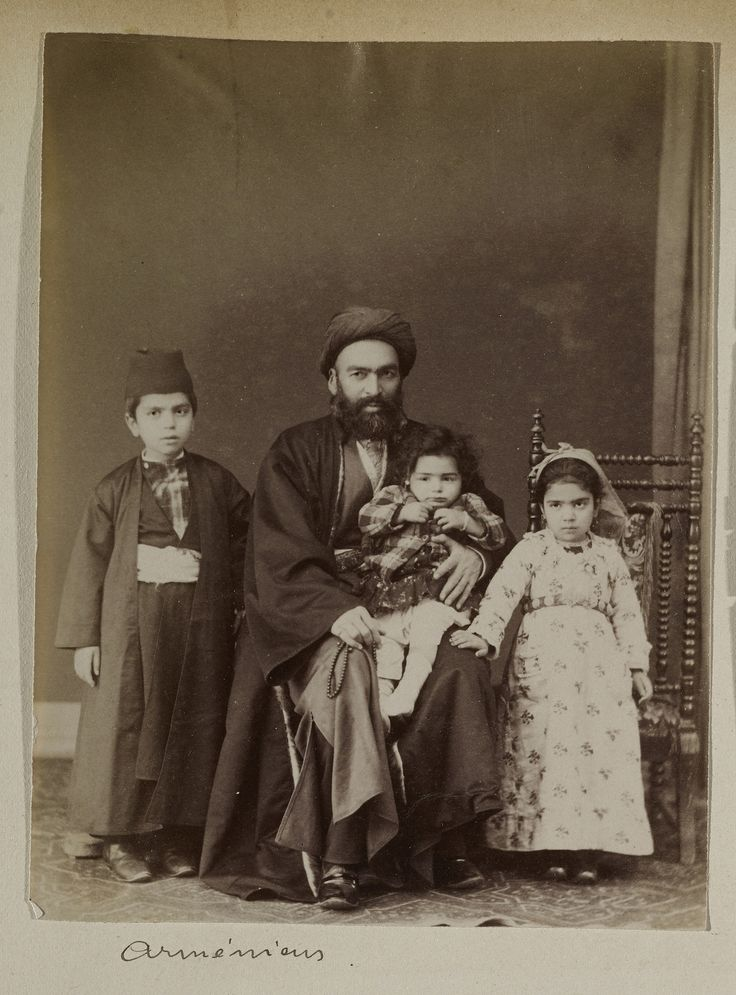 Armenians and Armenian Photographers in the Ottoman Empire. J. Pascal Sebah (Armenian, 1823-1886), Armenian Family, ca. 1880. Los Angeles, Getty Research Institute (96.R.14, Box 80) -