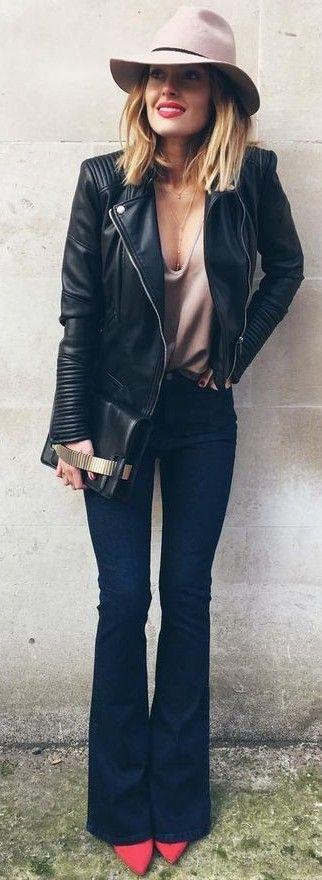 All Black With Pop Of Blush | Caroline Receveur