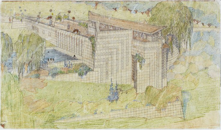 """School in Los Angeles;Frank Lloyd Wright at 150: Unpacking the Archive"""" at the Museum of Modern Art considers the great American architect's career from unexpected angles."""