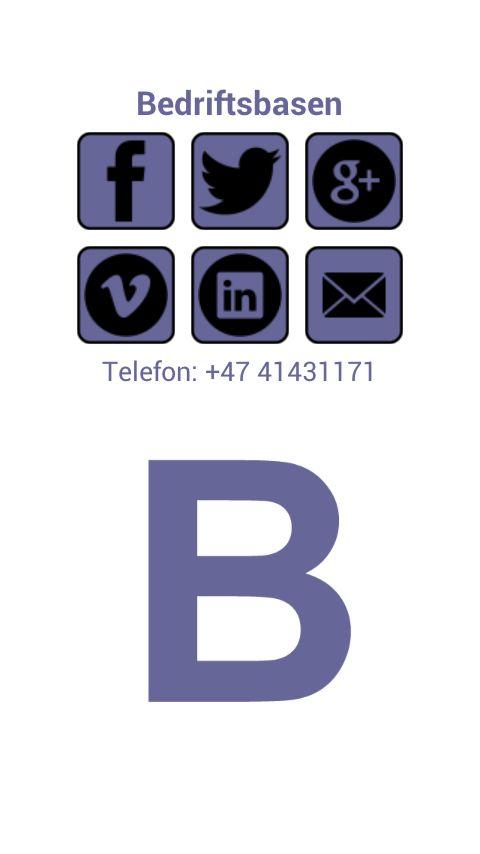 Bedriftsbasen gratis Android app.