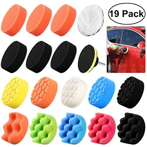 WINOMO 19Pcs Polishing Pads Sponge Buff Pads Set Kit with M10 Drill Adapter for Car Polisher - DescriptionThis is a car polishing kit. They come with everything you need to polish your car so you don't have to go get something to go with it. Sponges come with different colors and softness, suitable for polishing rough and small areas. It can be used for all kinds of coat paints waxing, pol...