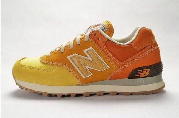Joes New Balance 574 WL574RSU Gelb Orangefarbene Damenschuhe ...