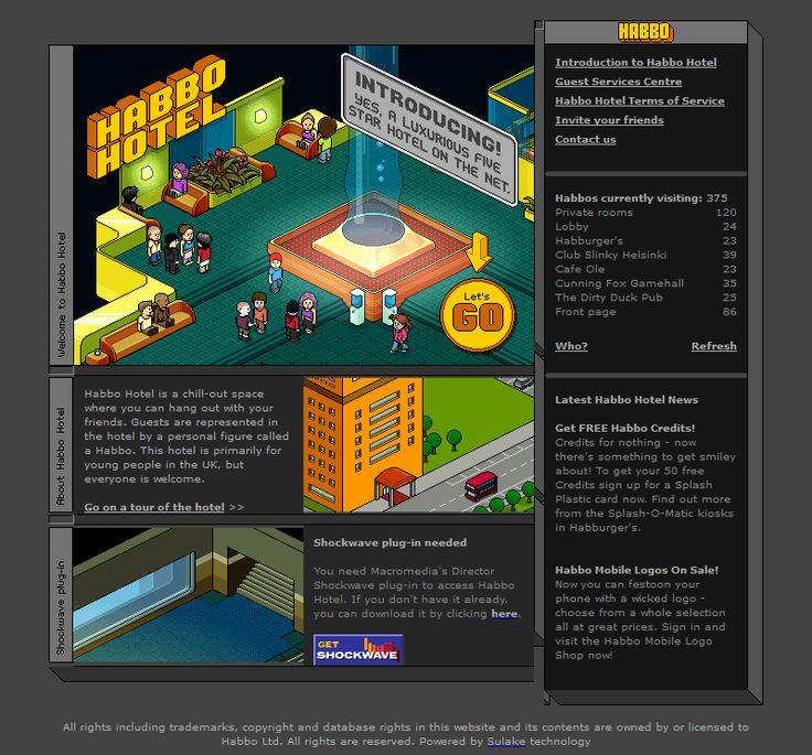 Habbo Hotel website in 2001