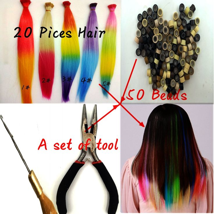 Fashion Micro Loop Ring Hair Extension 20PCS Synthetic Loop Hair Ombre 3 Colors Hairpieces And 50 Beads A Set Of Hair Loop Tool. Made by 100% Japan high temperature fiber,looks beautiful and more confortable,soft,breathable.Syntetic cheap feather hair extension,It brings out a positive and happy mood everywhere around us and that to make some change in the hairstyle.A comfortable experience, a confident appearance.Ok, maybe  you can think about the hair extensions.