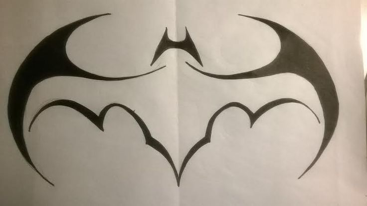 Tribal Batman Batwing Logo by lrayjus21