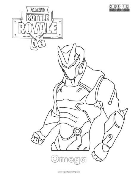 Omega Skin Fortnite Coloring Page