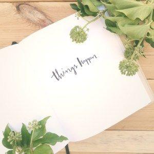 Notizbuch mit Prägung von Cayaline (Carolin Hohberg)
