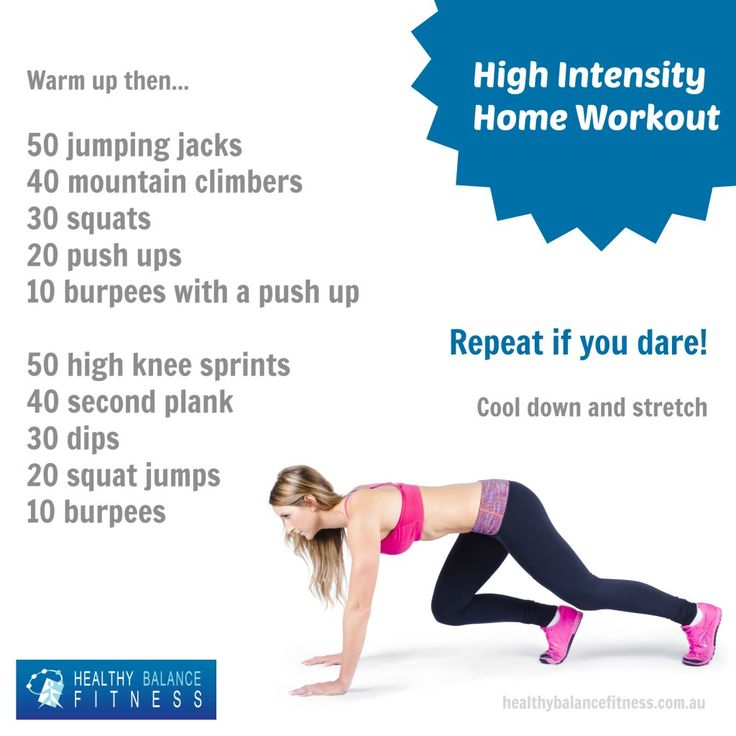 Try this high intensity workout at home to burn off the calories quick!