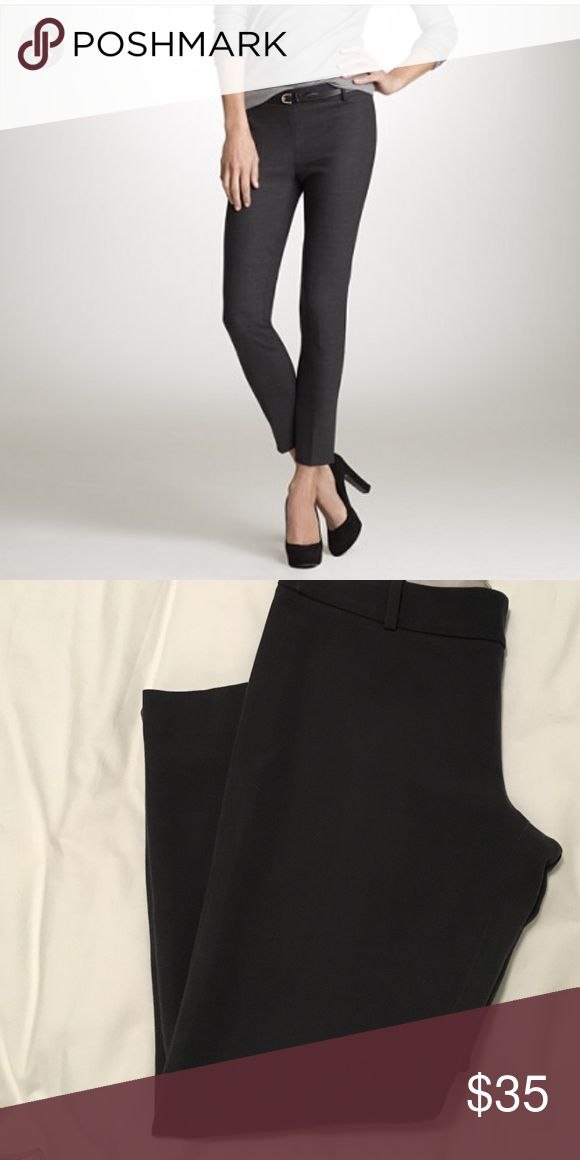 """Ankle length J. Crew City Fit Pant Dark Gray """"City Fit"""" Ankle pant from J. Crew. No front pockets, faux back pockets. Side zip. 95% cotton 5% spandex. Smoke free home.               24.5"""" inseam J. Crew Pants Ankle & Cropped"""