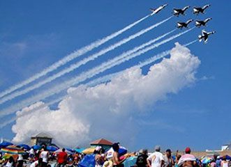 The Atlantic City Airshow, Thunder Over the Boardwalk is Atlantic City's signature summer event. Produced by the Greater Atlantic City Chamber, the AC Airshow is the single, largest FREE event on Atlantic City's summer calendar, and the largest airshow of its kind!