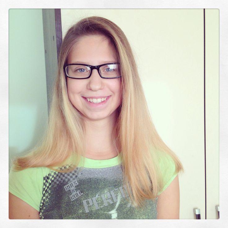 Омбре блонд