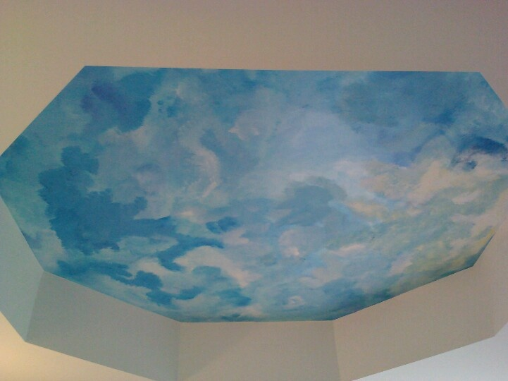 Sky ceiling mural master bedroom ceiling pinterest for Ceiling sky mural