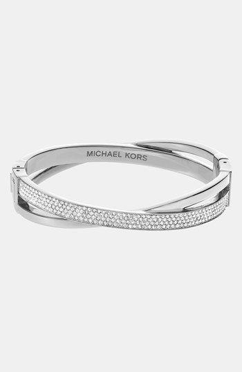 Michael Kors 'Brilliance' Crisscross Hinged Bracelet | Nordstrom
