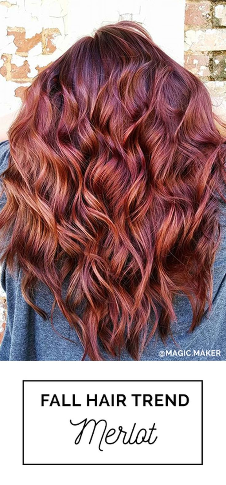 Merlot Hair Color - 90 best hair color ideas to try in this fall 2017