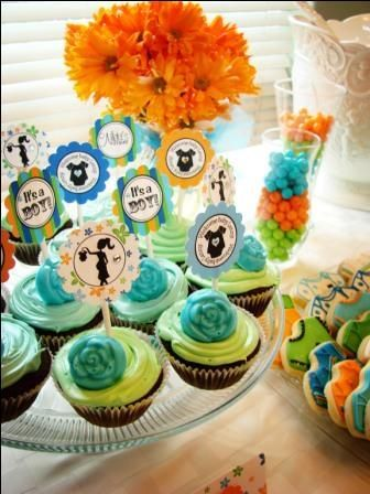 "Photo 5 of 21: Blue/Orange/Green / Baby Shower/Sip & See ""Sweetharts Baby Boy Shower"" 