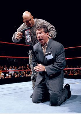 WWE Stone Cold Steve Austin 3:16 with gun Mr Mc Mahon in ring pics ...