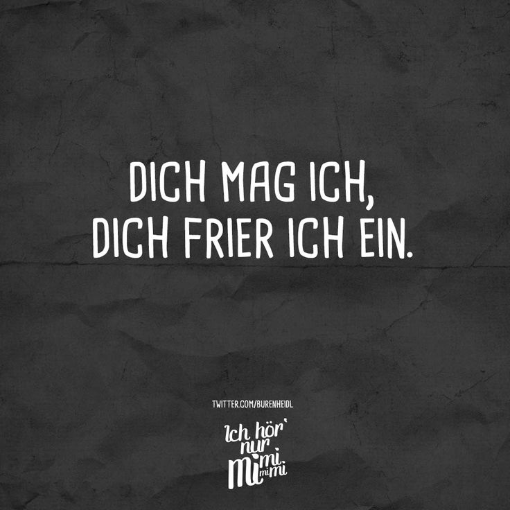 Dich mag ich, dich frier ich ein. - VISUAL STATEMENTS®