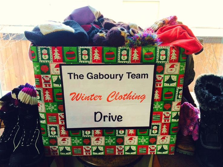 2014 Winter Clothing Drive for the Edmonton Bissell Centre. #thegabouryteam #clothingdrive #sprucegrove #stonyplain #realtor