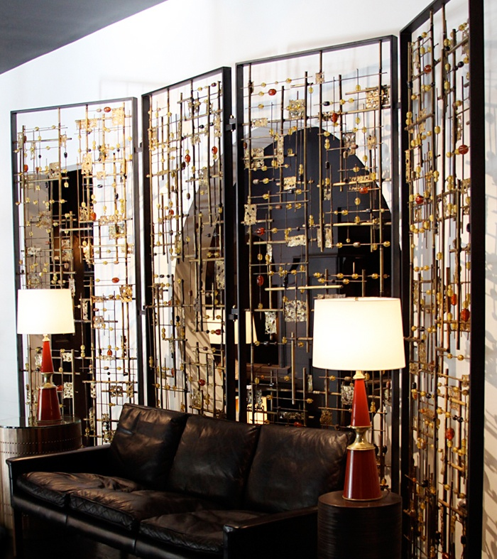 Bead and Brass Sculptural Screen                                                                                                                                                                                 More