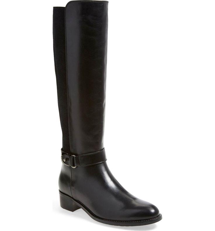 Main Image - Aquatalia 'Olita' Weatherproof Riding Boot (Women) (Wide Calf) (Nordstrom Exclusive)