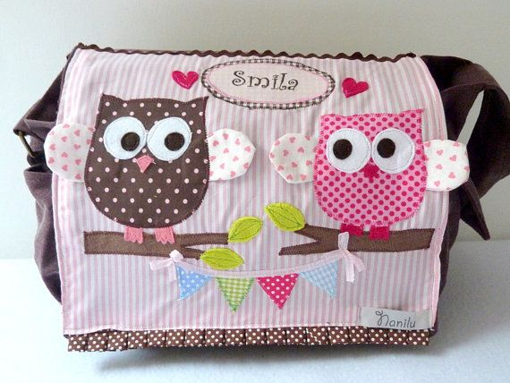 Extremely Cute! Diaper Bag Personalized Diaper Bag Owl Diaper Bag by NaniluDesign, $95.00
