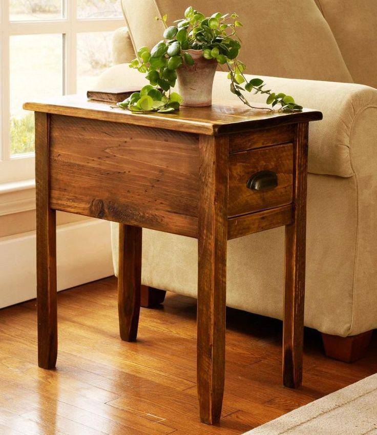 Best 25  Rustic end tables ideas on Pinterest End Wood and Industrial side table