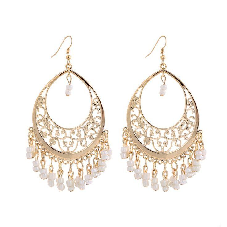 Bohemia statement earrings vintage Tassel Rhinestone Dangle earrings jewelry Brincos grandes Boucles Bijoux earrings for women