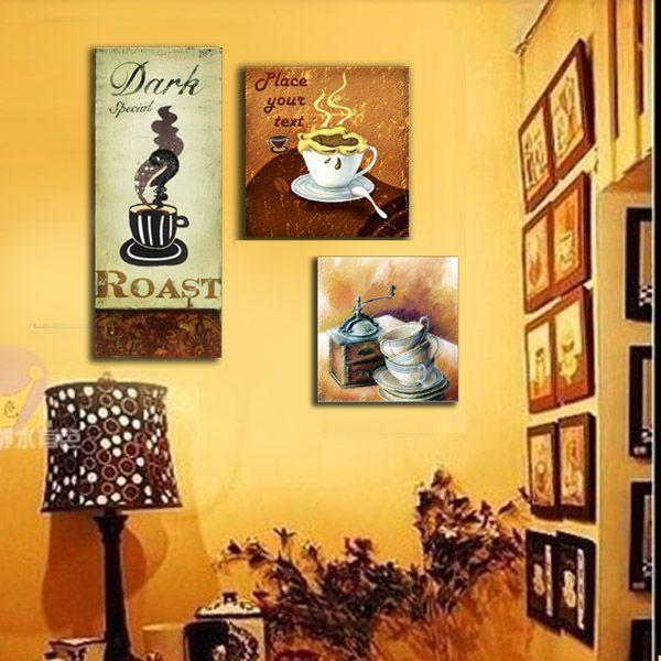 Бесплатная доставка декоративные картины тройной бескаркасных живопись гостиной стены спальня росписи живопись пейзажная живопись диван фон стены, тумбочка висит картина-Таобао глобальной станции
