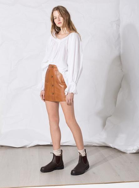 Shrimpton Mini Skirt Tan