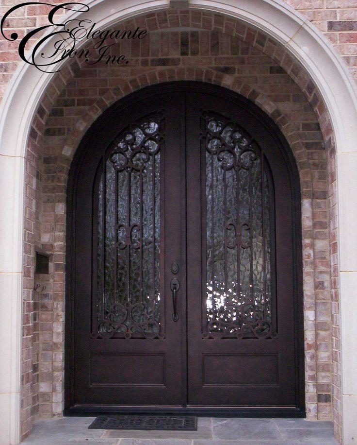 Custom Wrought Iron Door Full Arch Double Doors