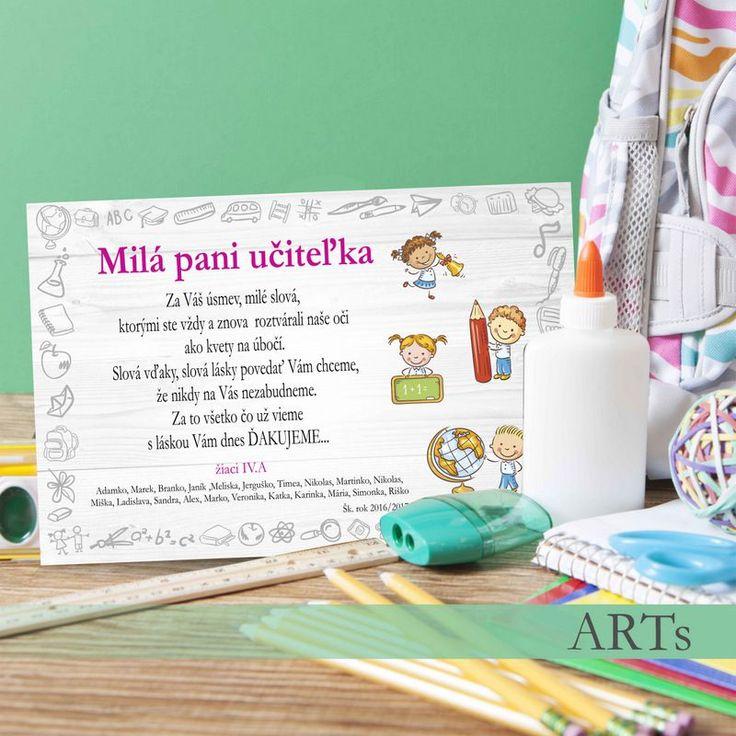(063t) #Tabuľka - Poďakovanie učiteľke I. stupeň #ucitel #artsablony
