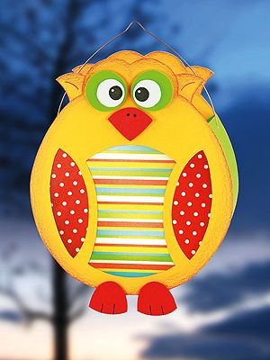 Owl lantern. Colourful and cute!