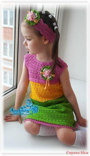 """Платье """"Весенние цветы"""" - Вязание - Страна Мам"""