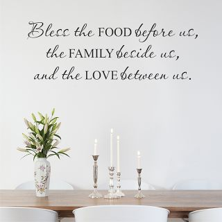 Take A Look At This Black U0027Bless Family Food And Loveu0027 Wall Quote On Zulily  Today! Part 79