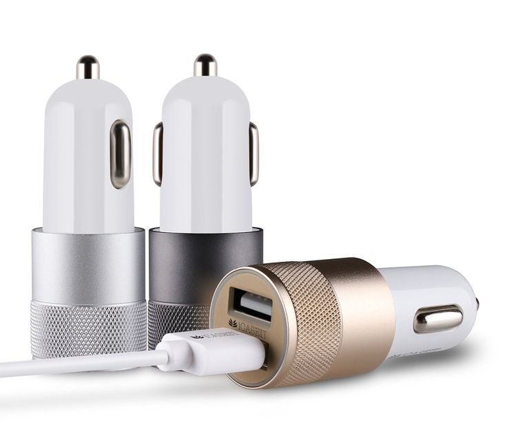 Amazon.com: iCASEIT 4.8A / 24W 2-Port Rapid USB Car Charger with Advance Technology for iPhone, iPad Air 2, Samsung Galaxy S6 / S6 Edge, Nexus, HTC M9, Motorola, Nokia and More (SILVER): Car Electronics